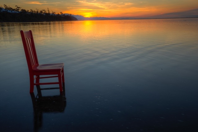 Sunset shared with the Red Chair.